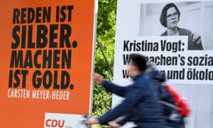 Election posters for Kristina Vogt and the CDU in Bremen.