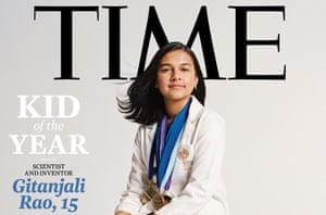 Gitanjali Rao, el niño inaugural del año de la revista Time, ha utilizado la tecnología para abordar el agua potable contaminada, la adicción a los opioides y el acoso cibernético.