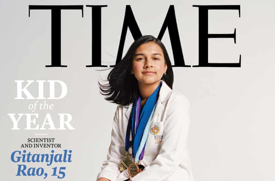 Gitanjali Rao, Time magazine's inaugural kid of the year, has used technology to address contaminated drinking water, opioid addiction and cyber-bullying.