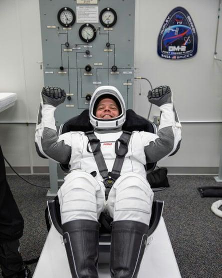 Robert Behnken in his spacesuit