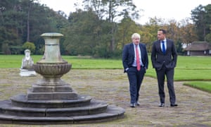Taioseach Leo Varadkar and Prime Minister Boris Johnson at Thornton Manor Hotel, on The Wirral, Cheshire.