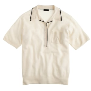 "£114, <a href=""https://www.jcrew.com/uk/womens_category/Collection/sweaters/PRD~C7461/C7461.jsp?Nbrd=J&amp;Nloc=en_GB&amp;Nrpp=48&amp;Npge=1&amp;Ntrm=polo+shirt&amp;isSaleItem=true&amp;color_name=SNOW%20NAVY%20RAFFIA&amp;isFromSearch=true&amp;isNewSearch=true&amp;hash=row9"">jcrew.com</a>"