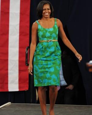 Michelle Obama at Barbara Goleman high school, Miami, 10 July 2012.