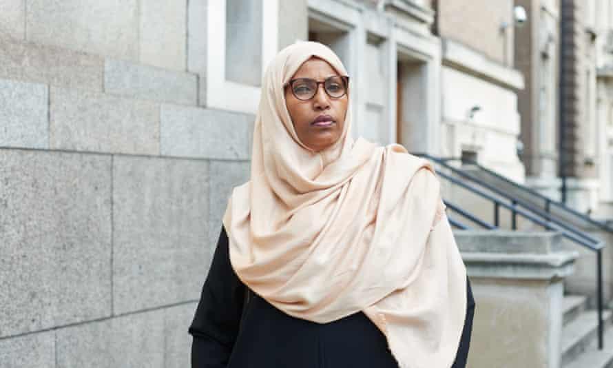 Councillor Rakhia Ismail outside Islington Town Hall, north London.