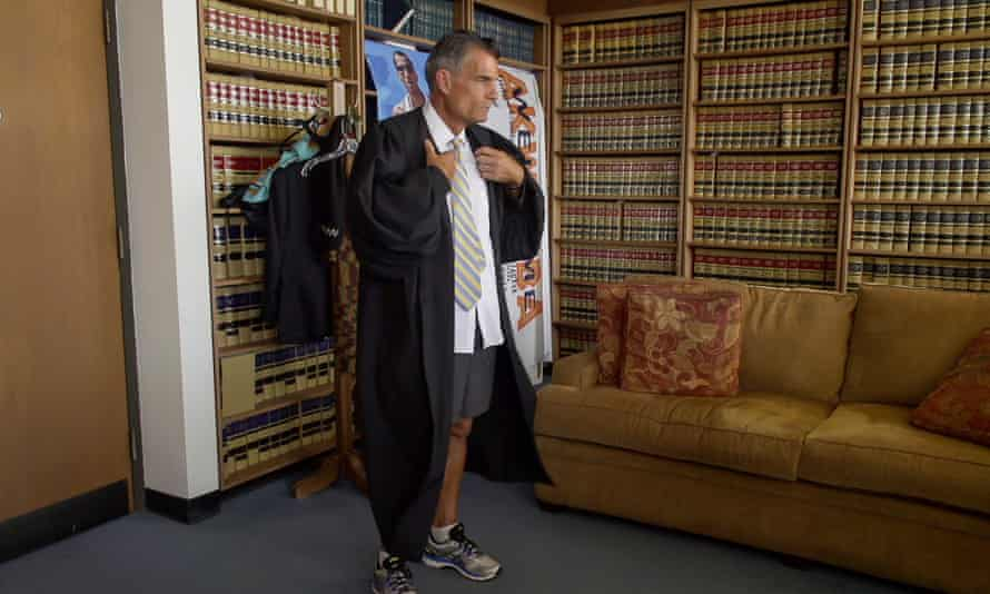 Judge Craig Mitchell in his chambers in a still from Skid Row Marathon