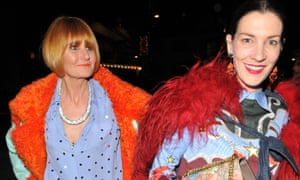 Mary Portas with partner Melanie Rickey, both in bright colours