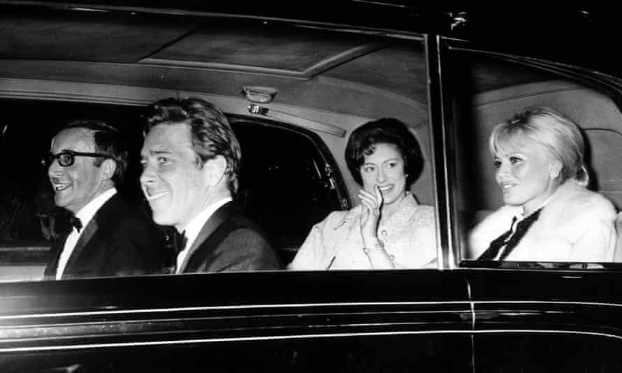 Peter Sellers, Antony Armstrong-Jones, Margaret and Britt Ekland in 1965.