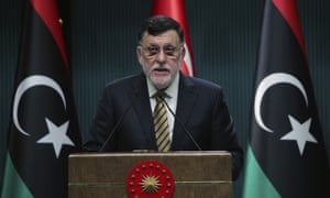 Fayez al-Sarraj, the head of the Government of National Accord