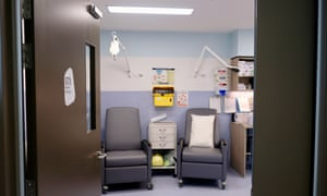 A room adjacent to the drug-injecting booths allows North Richmond Community Health Centre staff to treat users who have overdosed.