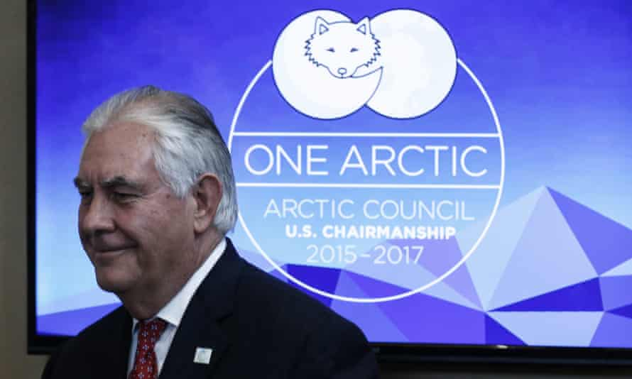 US secretary of state Rex Tillerson at the Arctic Council meeting in Fairbanks, Alaska