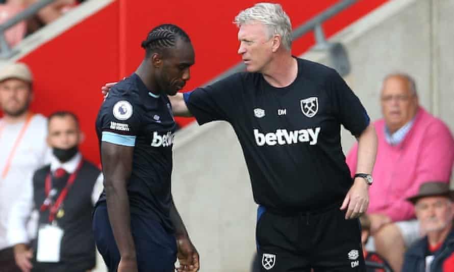 Michail Antonio sent off as West Ham scrape a draw at Southampton | Premier League | The Guardian