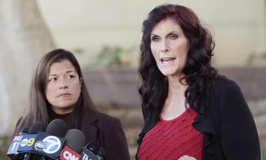 Actor Cindy Lee Garcia, right, sought to have the clip removed from YouTube after receiving death threats