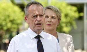Bill Shorten backed by Tanya Plibersek in Brisbane last week