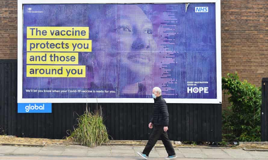 Follow the science ... an information poster in Stoke-on-Trent, May 2021.