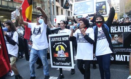 Black Lives Matter protest in Sydney