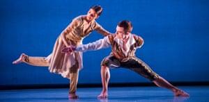 Vidya Patel and Liam Roddick in An Italian In Madrid by Richard Alston Dance Company.