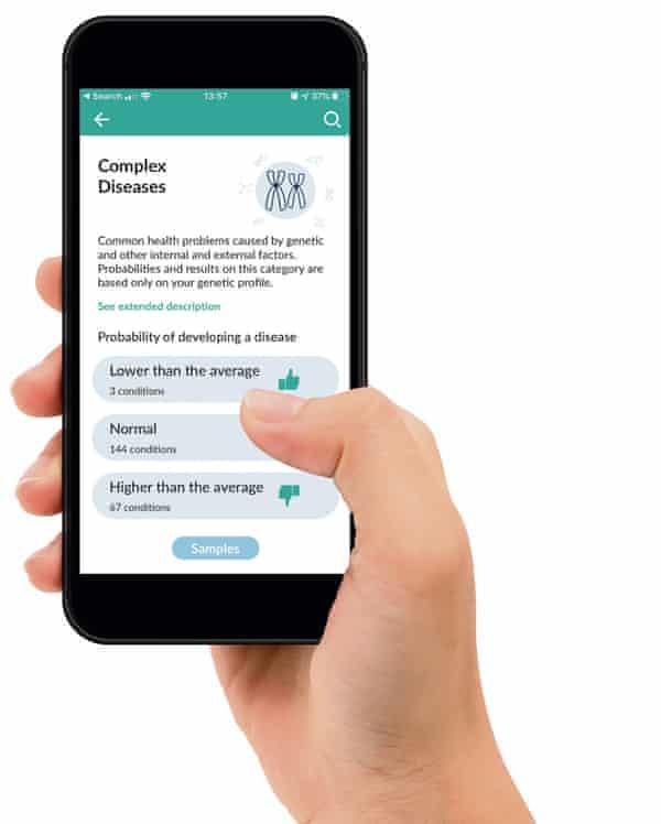 Analysis from Genomapp on a smartphone.