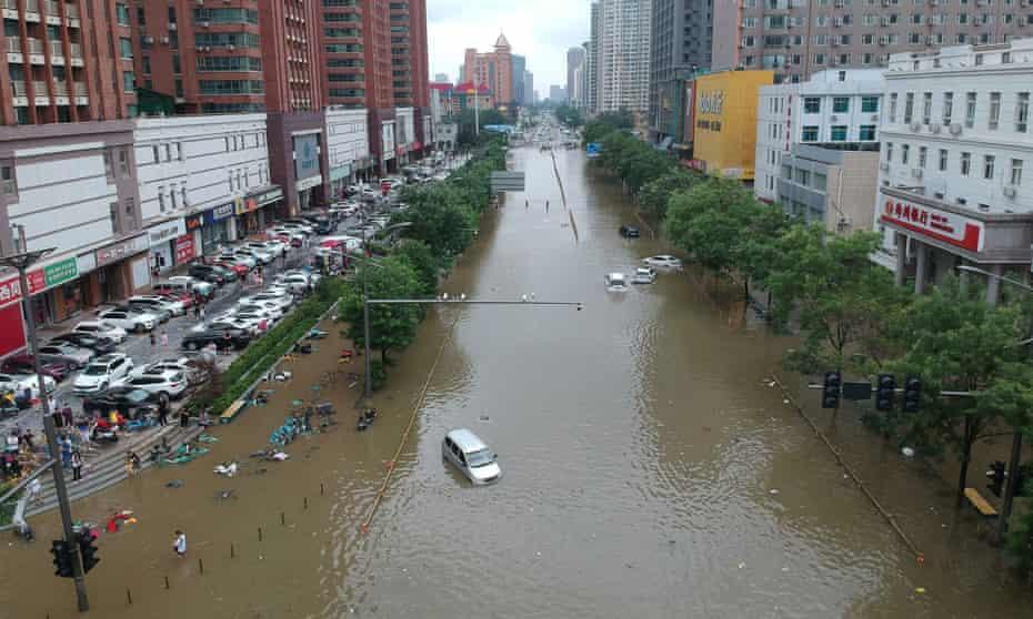 A year's worth of rain fell in three days in Zhengzhou