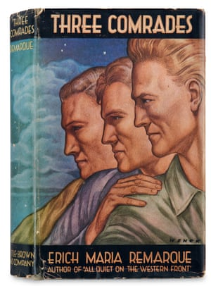 The dust jacket of Three Comrades by Erich Maria Remarque Illustrated by Paul Wenck