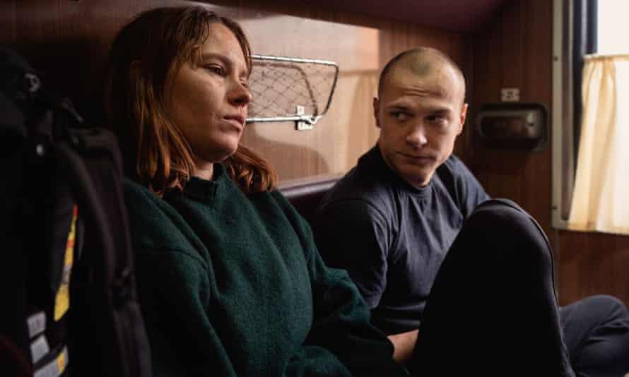 Seidi Haarla, left, and Yuriy Borisov in Compartment No 6.