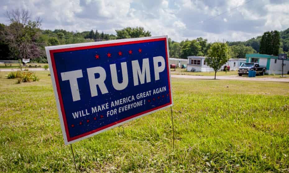 Trump campaign sign Somerset County, Pennsylvania.