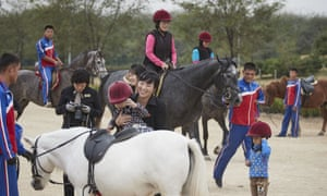 Horseriding in North Korea