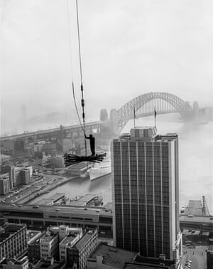 The view north-west from the State Office Block construction site in about 1964