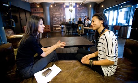 Game changers: people work at WeWork's office space in New York.
