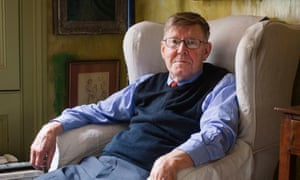 Alan Bennett photographed at home.