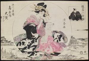 The Courtesan Oyodo of the Tsuruya Brothel, by Torri Kiyomine, 1813.