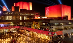 London's National Theatre during the Fire Garden event for the 2012 Olympics.