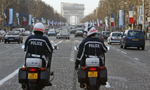 The attack took place outside the Israeli embassy near the Champs Élysées in central Paris.