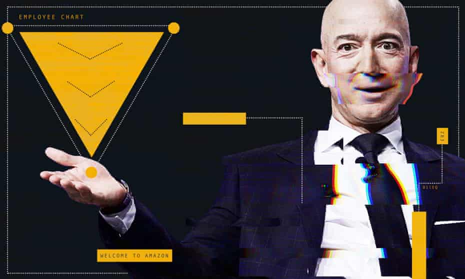 'The wealth we produce is being accumulated by our boss Jeff Bezos, while our wages barely keep us afloat'.