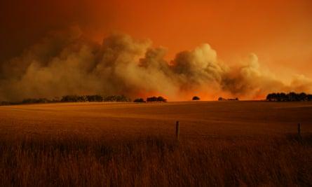A fire at Churchill, Victoria on Black Saturday in 2009