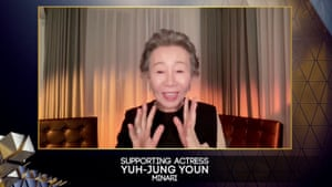 Youn Yuh-jung wins best supporting actress for Minari.