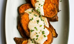 A slice of life: sweet potato with harissa and soured cream.