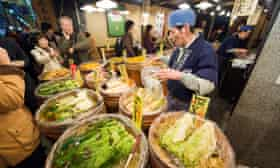 Asia, Japan. Kyoto, Nishiki food market