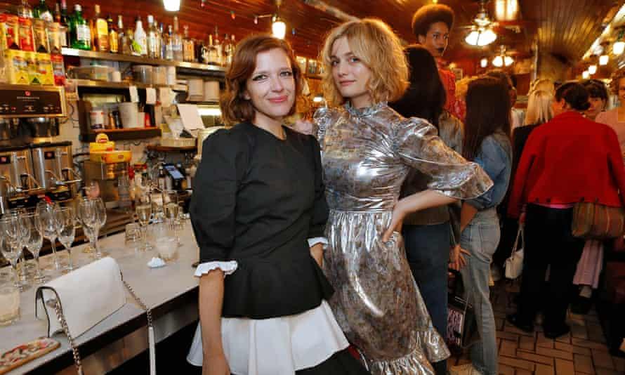 Hay and a model present her Batsheva spring/summer 2019 fashion show