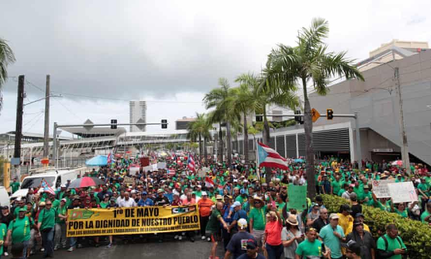 Protest march, Puerto Rico