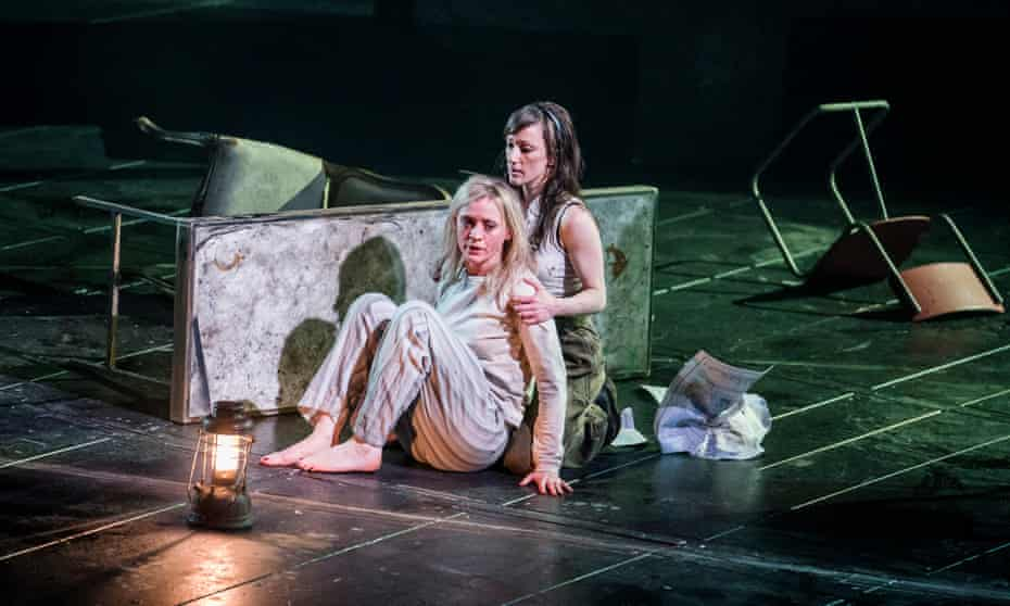 Anne-Marie Duff with Nadia Albina in Macbeth at the National Theatre in 2018.