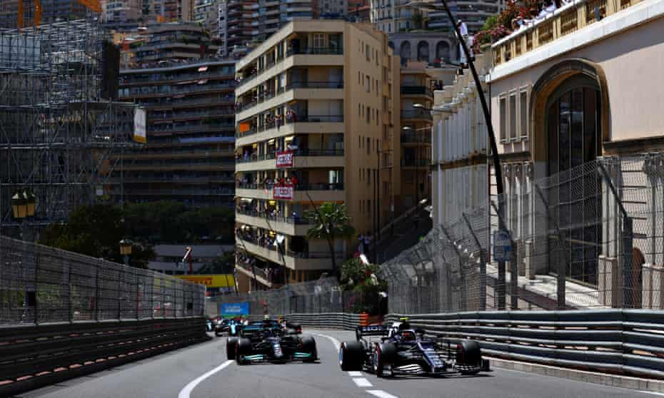 Pierre Gasly (right) frustrated Lewis Hamilton for much of the race in Monaco.