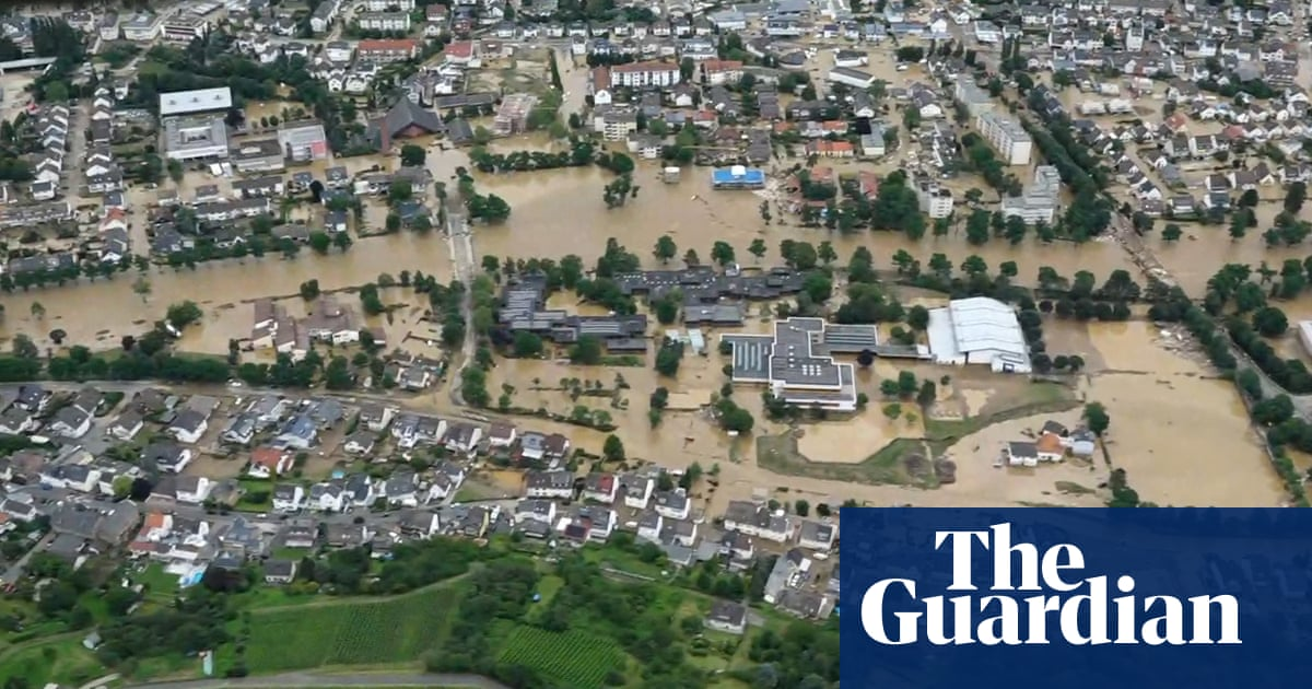 Aerial footage shows flooding across Belgium, Germany and the Netherlands – video