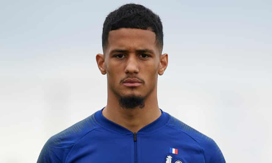 William Saliba on France Under-20 duty.