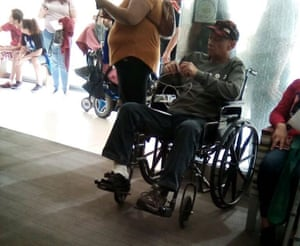 Poor health forced Escobar Mejia to use a wheelchair.