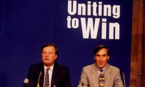 Kenneth Clarke and John Redwood put aside their differences over Europe with a pact in 1997.