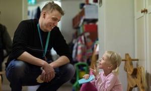 Inside the Aleksi day care centre in Helsinki, Finland.