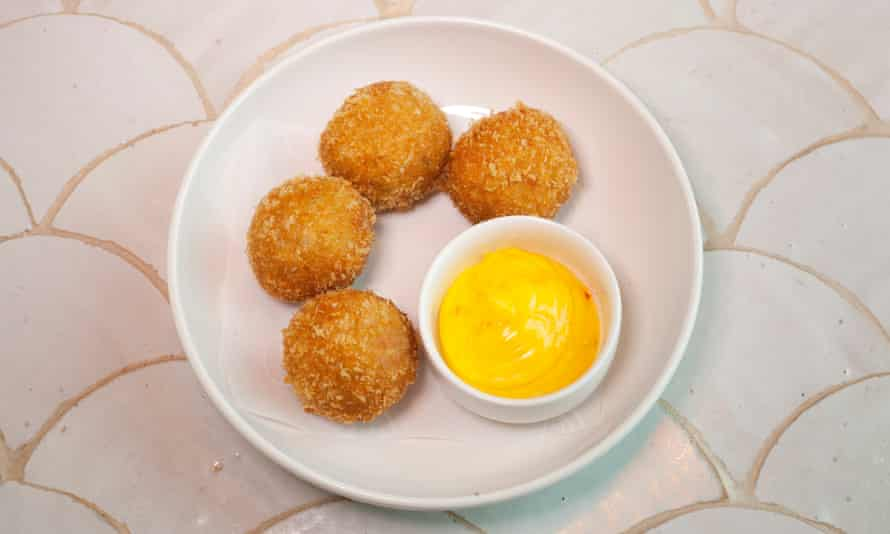 'Light on crab, heavy on flour': crab buñuelos.