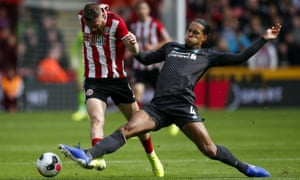 Liverpool's Virgil van Dijk (right) said they had to battle and adapt for three points against Sheffield United.