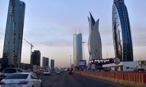 Menara yang baru dibangun di Ryadh, ibu kota Arab Saudi dan pusat keuangan utama.