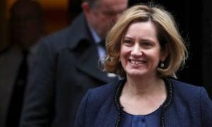 Amber Rudd, the UK's home secretary